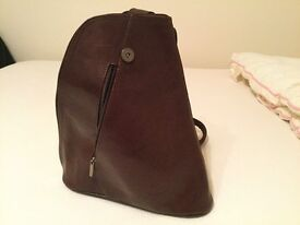 Brown Leather Backpack Handbag