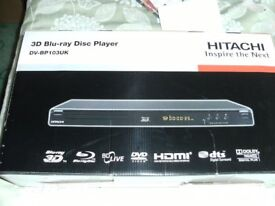 HITACHI 3D BLU-RAY DISC PLAYER (Brand New & Boxed)