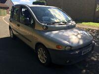 Fiat Multipla 100 16V ELX 1596cc Petrol 5 speed manual 6 seat estate 51 Plate 27/09/2001 Silver
