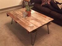 Shabby Chic Upcycled Pallet Coffee Table
