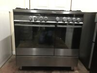 Fisher & paykel range dual fuel gas cooker 90cm double oven 3 months warranty free local delivery!!