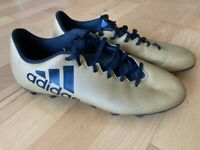 Adidas Gold Football Boots, Size 7