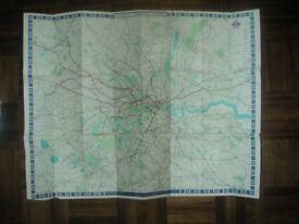 1968 - Lewis Folding Passenger Map of the London Transport System