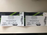 2 tickets for sale for Game of Thrones Live Concert Experience (Wembley) - FACE VALUE (£40 each)