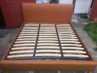 Super King Leather bed frame in great condition