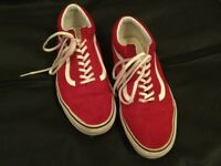 Vans size 9 in Red Suede
