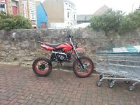 Pit bike 125cc very fast bike been out once kicks first time