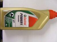 Castrol Power 1, Scooter 2T 1L, 2 Stroke engine oil. New and unopened