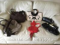 Handbags £15 each , red cat bag sold