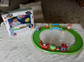 In the night garden musical ninky nonk train train & track set& 4 figures like new