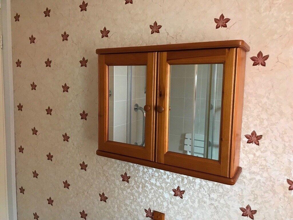 Wood Bathroom Cabinet And Towel Rail