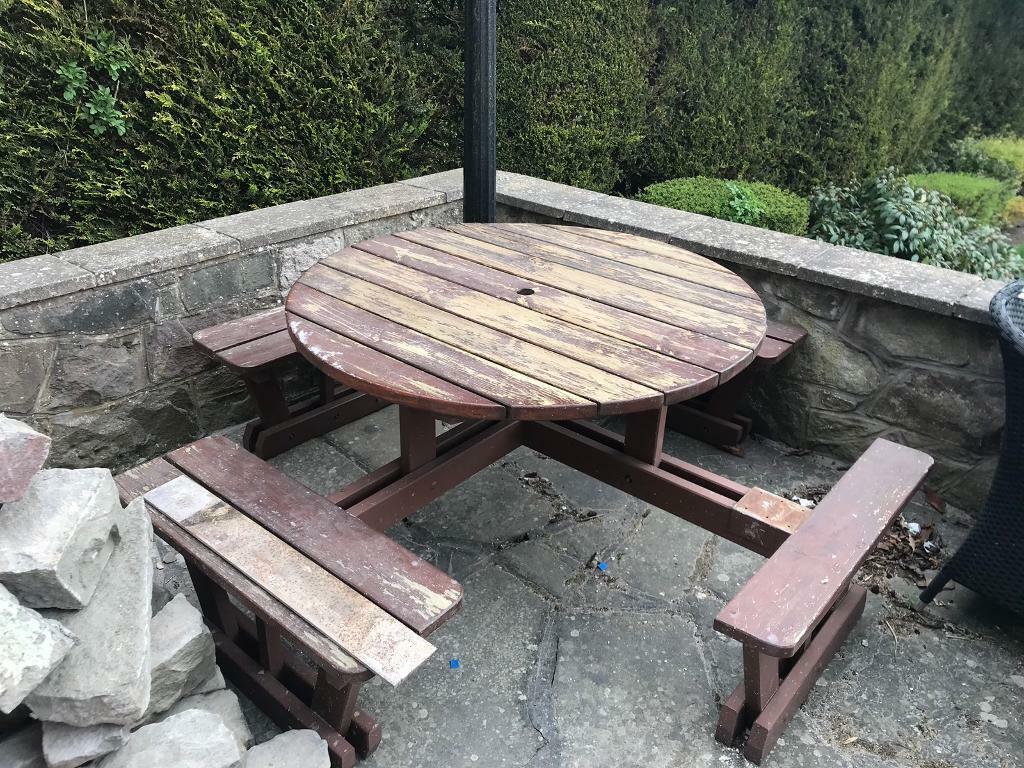 Fabulous Wooden Garden Bench Set In Monifieth Dundee Gumtree Inzonedesignstudio Interior Chair Design Inzonedesignstudiocom