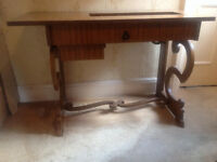 Solid Wood Carved Sewing Machine Table