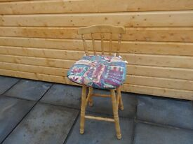 2 WOODEN HIGH CHAIRS