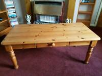 Solid coffee table in good condition £40