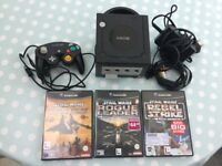 Nintendo Game Cube and 3 games