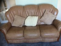 For sale leather sofa 3-2-1for sale leather sofa 321