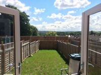 2 bedroom house with garden new build furnished with all new fixtures, fittings and new carpet.