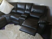 Excellent Condition Black Electric Corner Recliner Sofa from Harveys