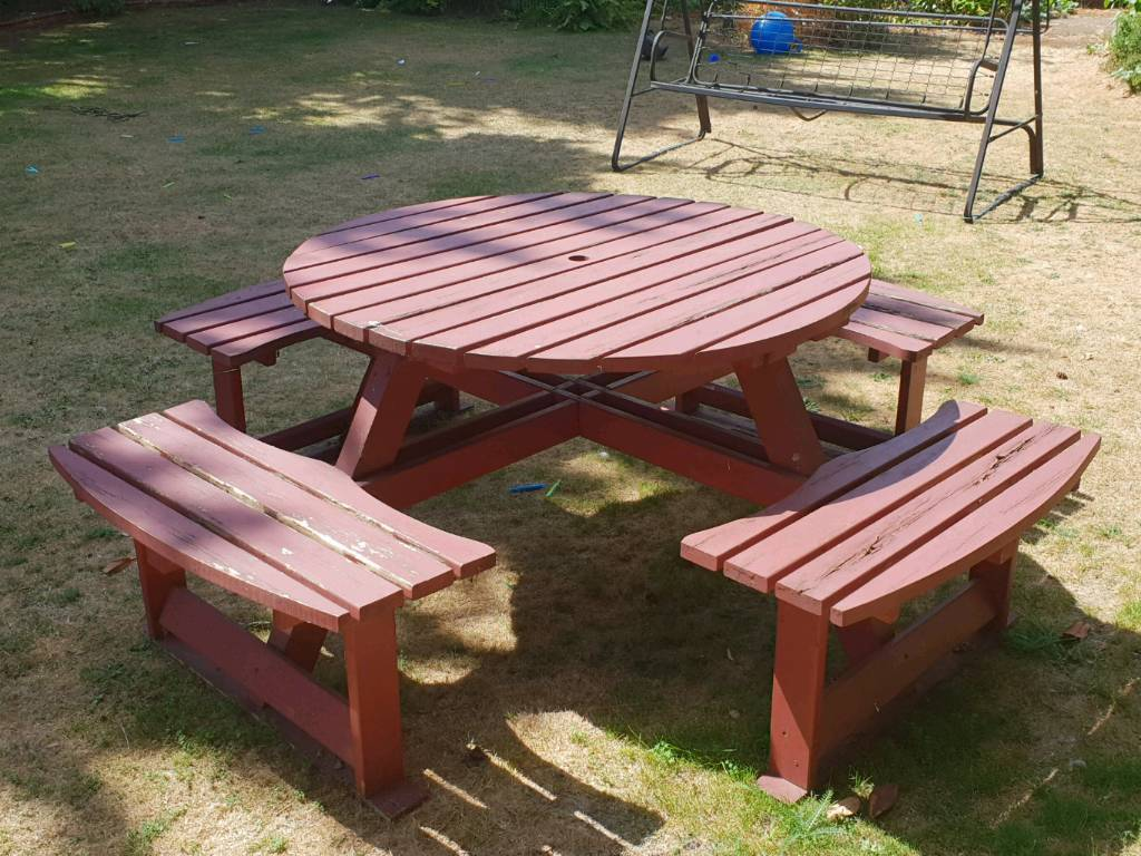 Large Garden Bench Table Picnic Seatseats In Northampton - Picnic table seats 8