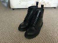 Dr Martens 1460 black monochrome boots, UK 8.