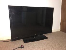 """40"""" inch UMC flat screen TV (tv working, screen broken) for parts"""