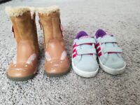 Girls Clarks Boots and Adidas Trainers