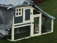 Brand New in Box - Cottage style rabbit hutch.