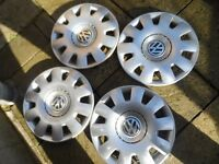 volkswagen 15 wheel trims hub caps x4 golf passat touran bora