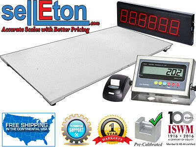 48 X 96 Floor Scale With Printer Scoreboard Warehouse Industrial 5000 X 1