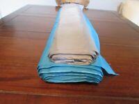2 Rolls Of Anti Static Lining Fabric 1 Turquoise & 1 Grey. 150cm Width