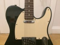 Fender Telecaster Standard electric guitar black and cream retro vintage Squier