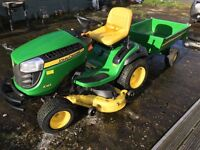 John Deere Lawn Tractor X165 and Trailer