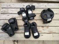 Martial arts sparing kit: gloves ,shoes, shin pads, helmet. Suitable for aged 12-15.