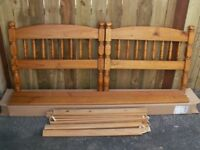Single Pine Bed with Mattress.