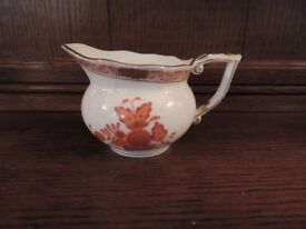 Herend China Milk Jug in 'Rust Chinese Bouquet' Pattern