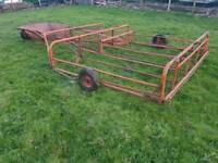 Tractor Brown's flat eight bale sledge sledge