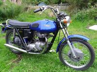 classic triumph 650 tiger,1973.runs and rides fine,matching engine and frame nos.