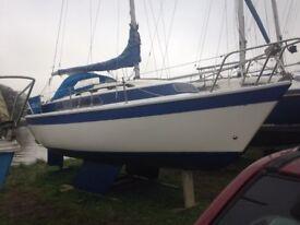 Newbridge Venturer 22ft sailing 3 berth sailing yacht.  Hull proffessionally restored