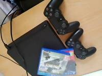 Playstation 4 (PS4) slim 1TB console bundle with games
