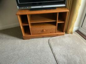 Tv cabinet with single drawer and shelf