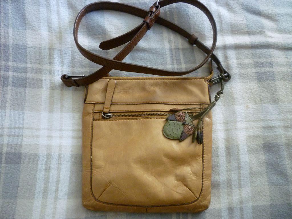 Mantaray Cross Body Leather Handbag