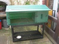 Rabbit Hutch All weather hutch including a stand