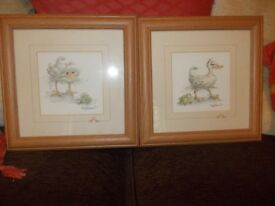 2 x JUDY ROSSOUU PRINTS SERIES 1128 29 X 29CM FRAMED