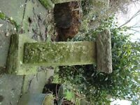 Antique vintage hand carved stone bird bath ornament table pot