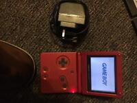 Gameboy advanced sp flame red