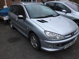Peugeot 206sw 1.4 petrol 108k mot march 2018 only covered a few miles since it was done