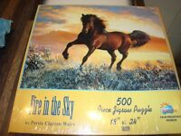 Fire in the sky 500 Piece Puzzle. Still in wrapping, brand new. £3.50. Torquay