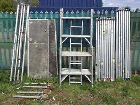 Boss Youngman Alumnium scaffold tower 6.2M WH X 1.8M