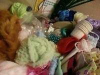 Craft Bundle ' Allsorts. Fabric, beads, Wool, Bias etc
